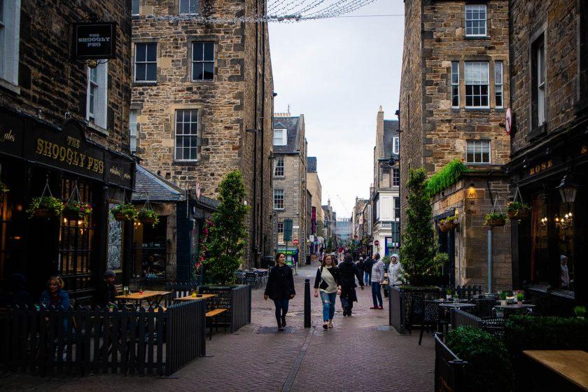 Rose Street in Edinburgh New Town