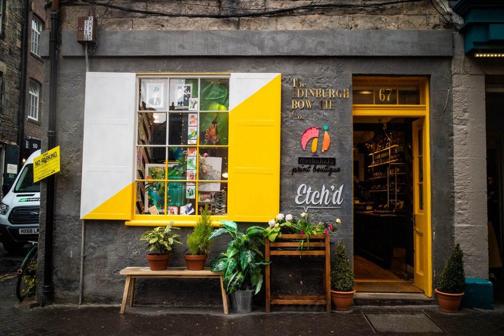Shop front in Edinburgh