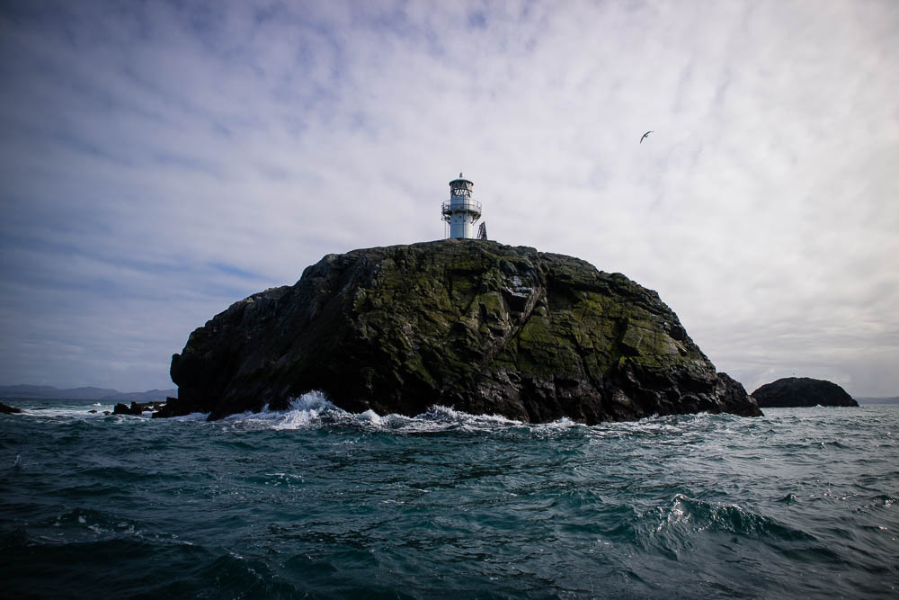 A lighthouse at the Cairns of Coll.
