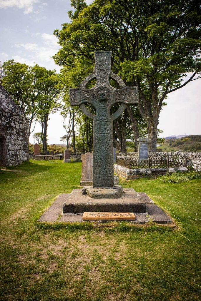 Ancient stone cross Kildalton Cross on Islay