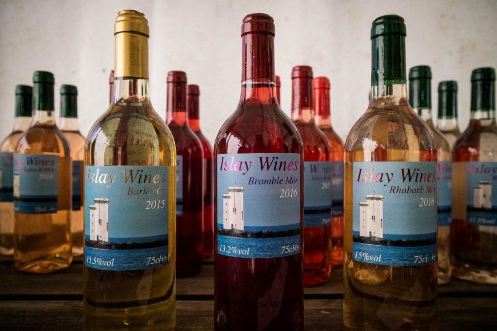 Bottles of Islay Wines