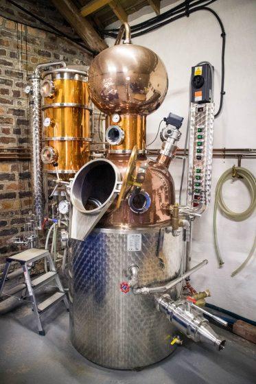 Copper still at Kintyre Gin Distillery