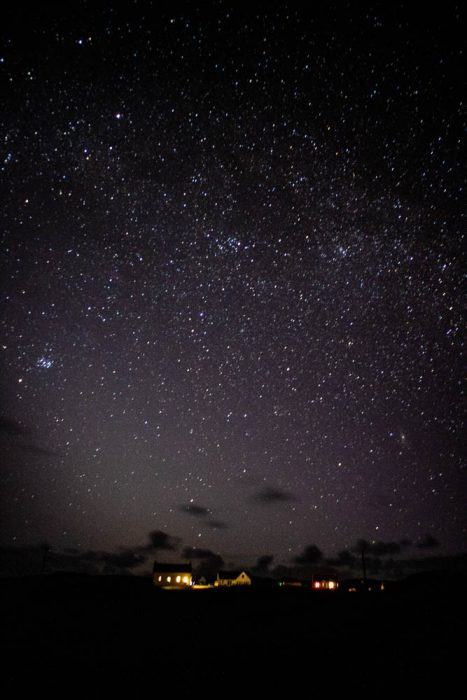 Dark sky photography of a starry sky on Coll.