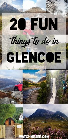 Stuck for ideas for a Scottish Highlands hliday? Look no further than Glencoe - here are 20 fun [outdoor & indoor] things to do in Glencoe + where to stay!