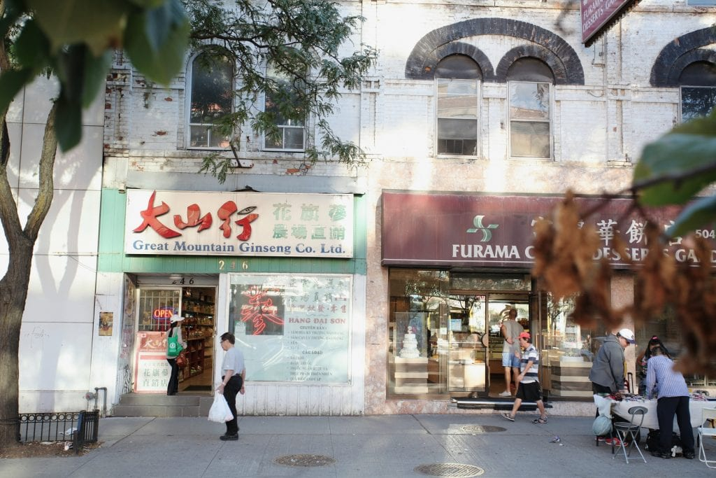 Shopfronts in Chinatown in Toronto
