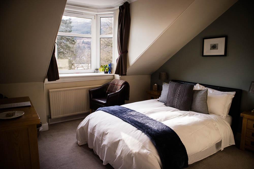 My bedroom at Ashfield House B&B in Arrochar.