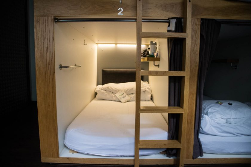 Sleeping pods at Code pod hostel Edinburgh