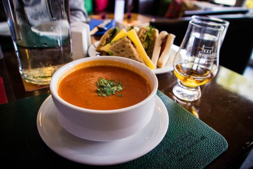 Tomato soup - Lunch at the Ballygrant Inn on Islay