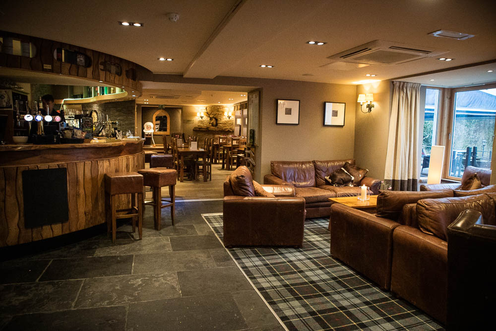 The bar and restaurant at The Inn on Loch Lomond hotel in Inverbeg