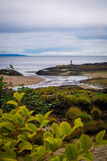 Antony Gormley statue on Saddell Bay in Scotland