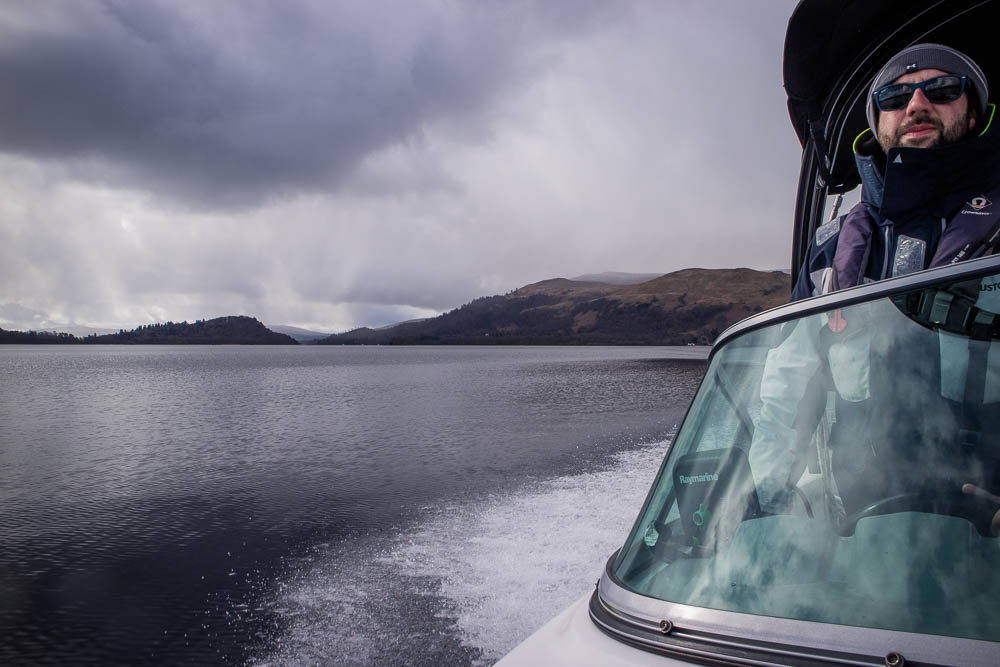 My captain at a speed boat cruise on Loch Lomond.