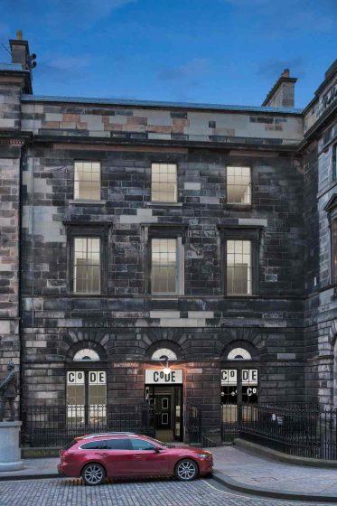 The CoURT CoDE Pod Hostel Edinburgh exterior