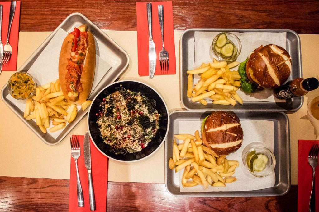 Burgers and hot dogs at Bath St Burger.