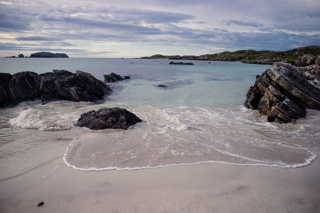 Waves rolling in at Bosta Beach on Great Bernera