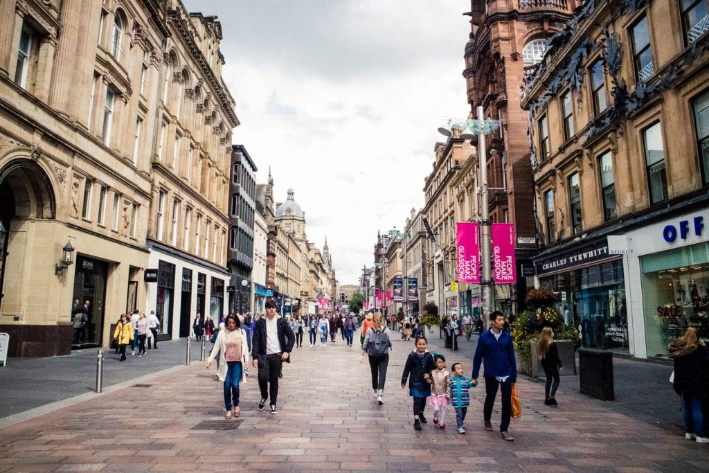 Glasgow's Style Mile - the shopping mile Buchanan Street.