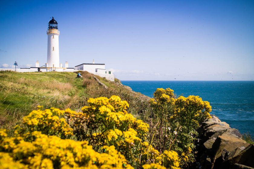 Mull of Galloway Lighthouse in South Scotland.