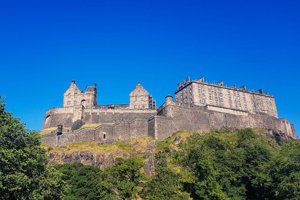 Edinburgh Castle on a sunny day.