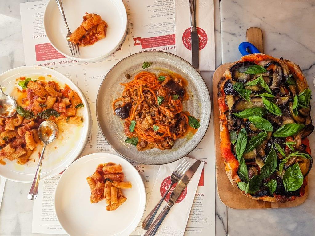 Italian spread at Eusebi's Deli in Glasgow.