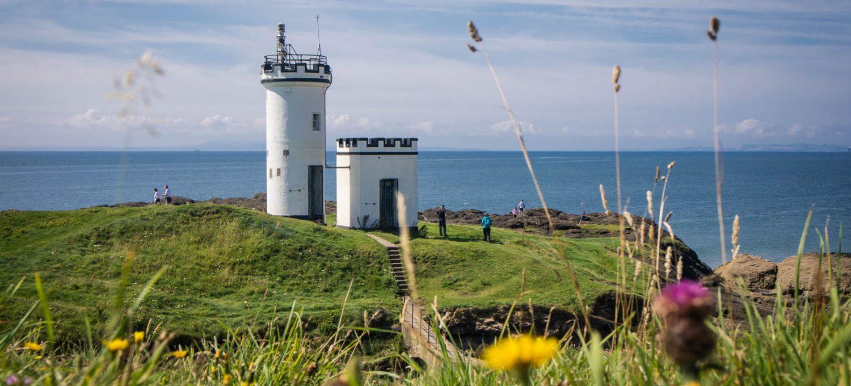 Elie Ness Lighthouse on the Fife Coastal Path