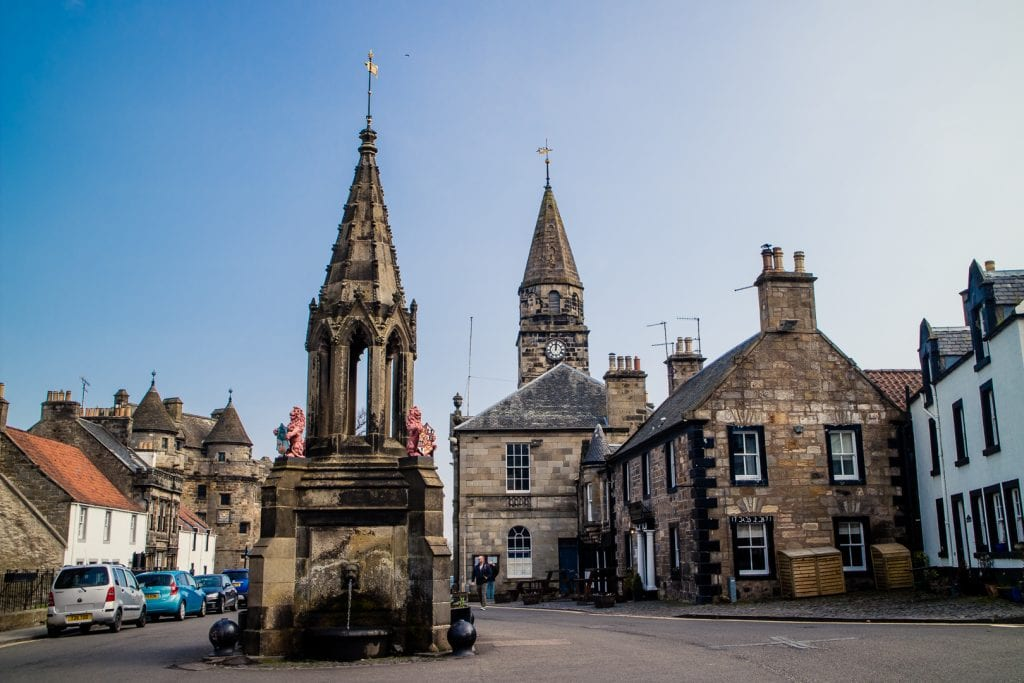 The market cross in Falkland, Scotland.