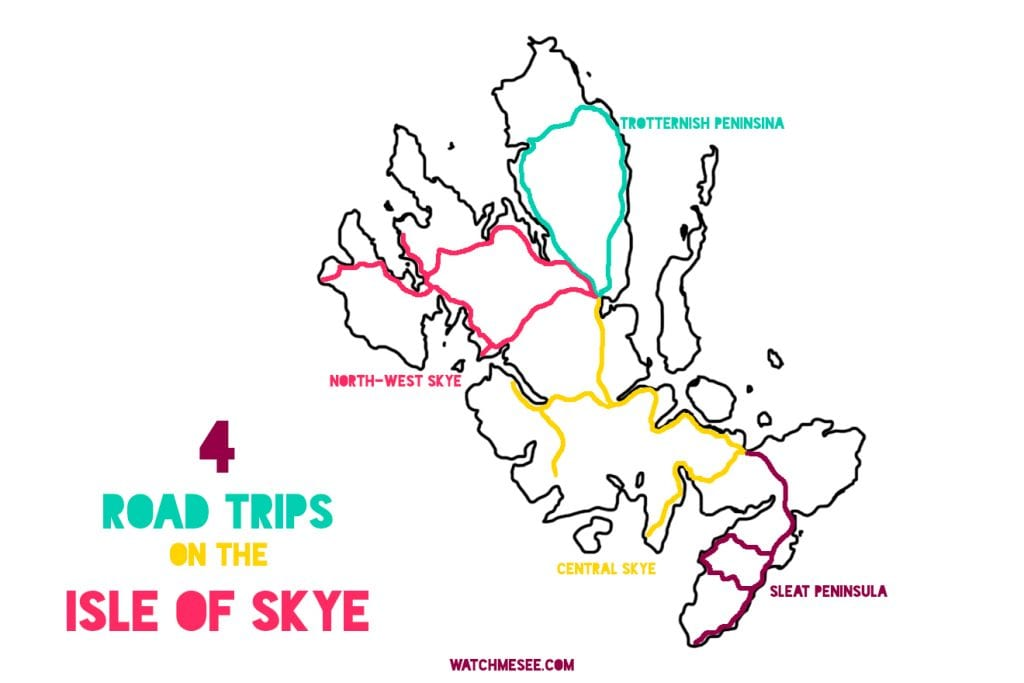 Four Roadtrips on the Isle of Skye map