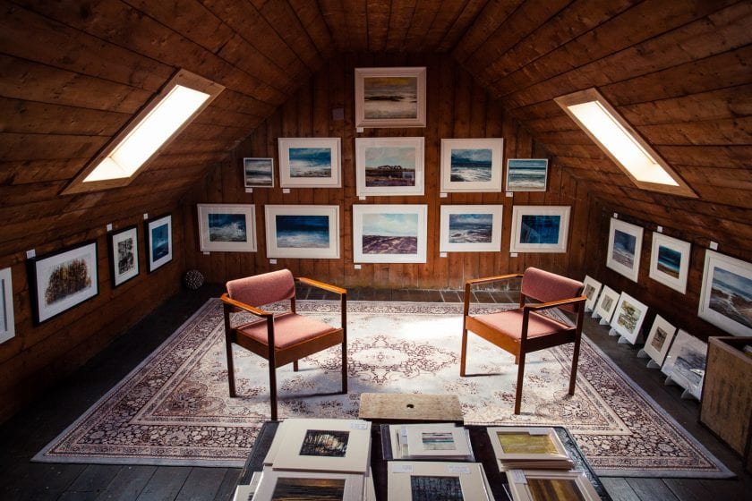 The Attic Studio of seascape painter Frances Innes in Peterhead.