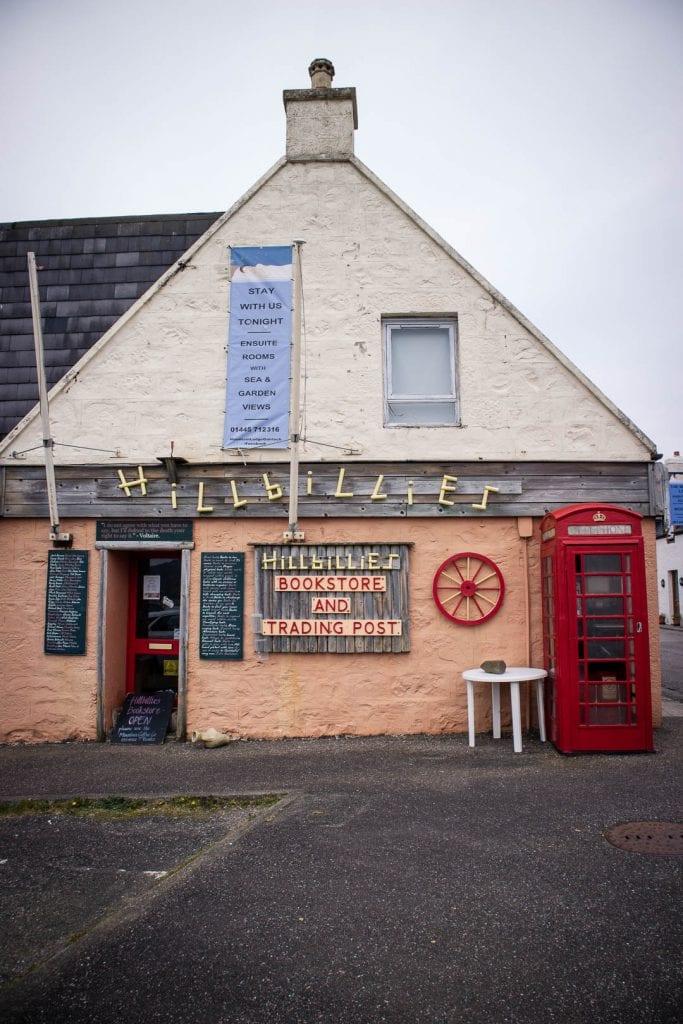 North Coast 500: Hillbillies Bookstore in Gairloch