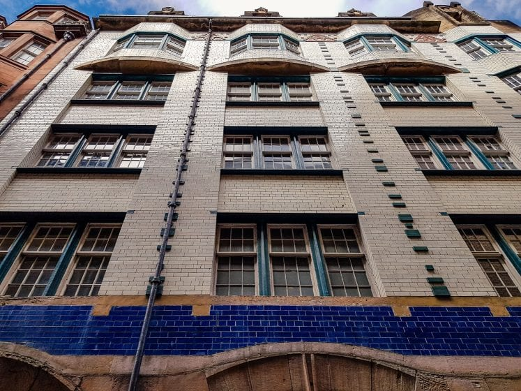 A building in Glasgow designed by Charles Rennie Mackintosh.