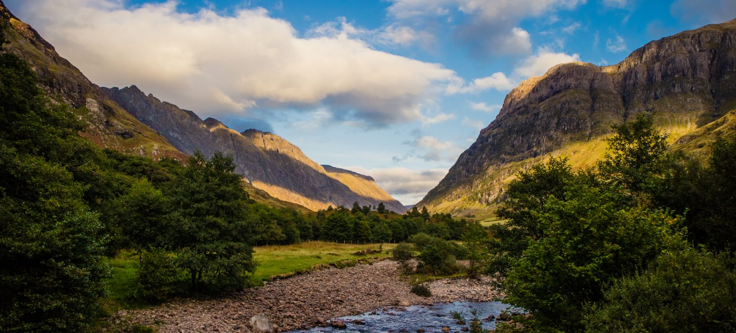 View down Glencoe from An Torr.