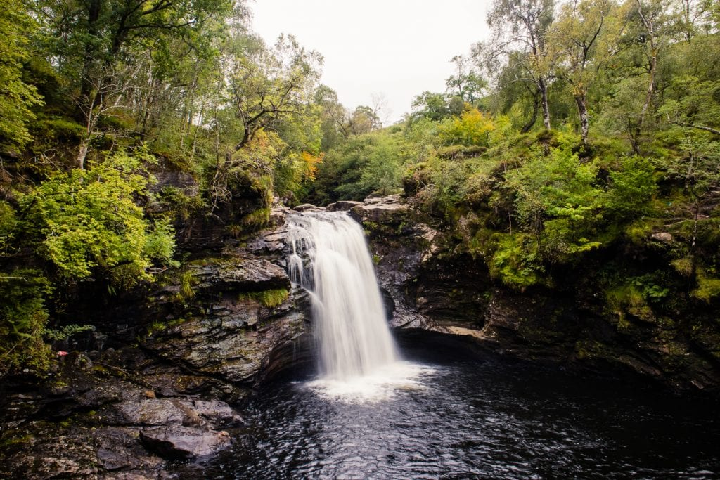 A waterfall in the Scottish Highlands - Falls of Falloch by Loch Lomond.