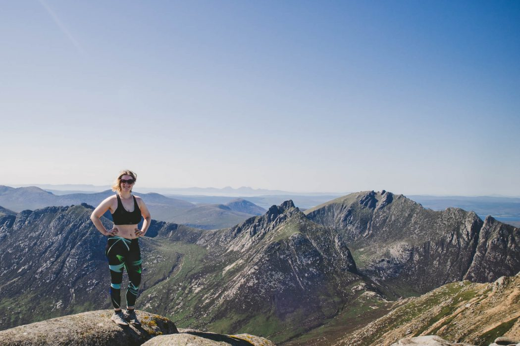 huffing and puffing up goatfell on the isle of arran