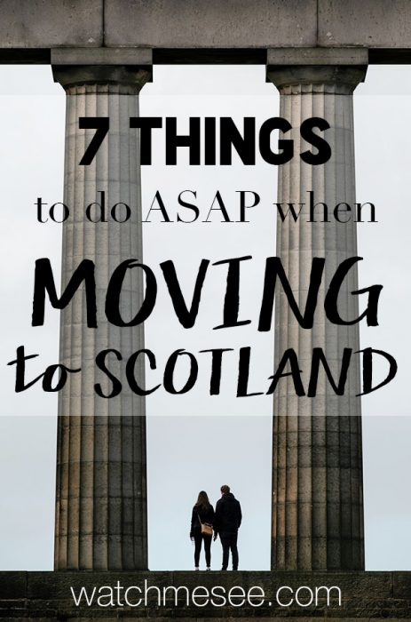 From opening a bank account to making friends - this guide explains 7 things you should consider when moving to Scotland!