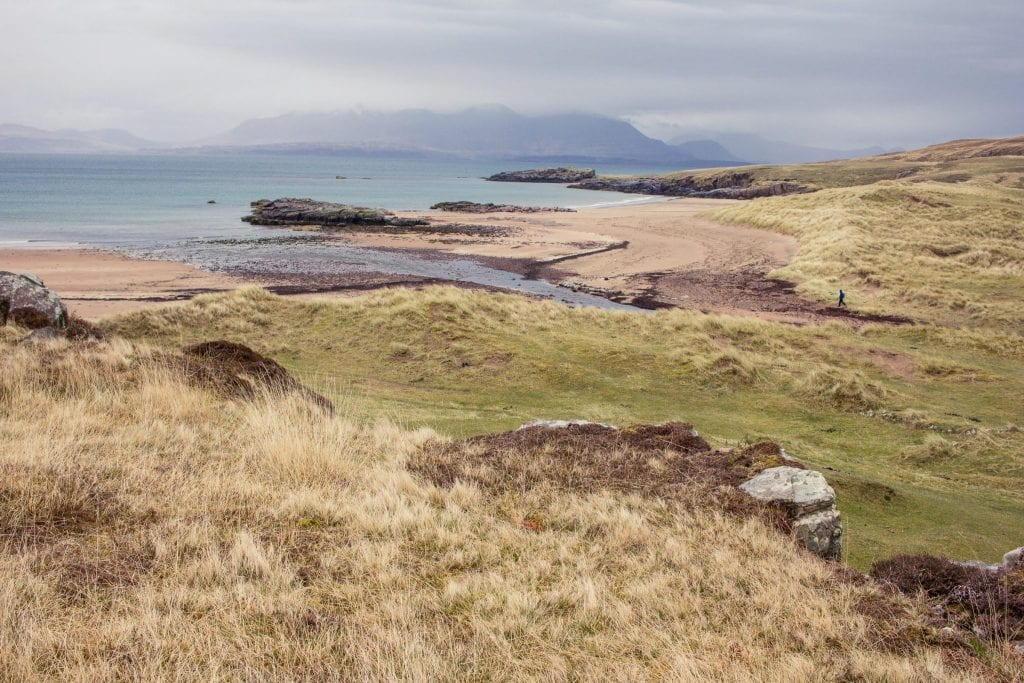 This photo shoes the bay of Kilmory on the Isle of Rum.