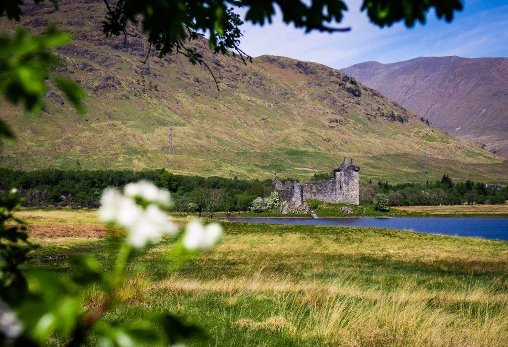 Kilchurn Castle ruin in Scotland