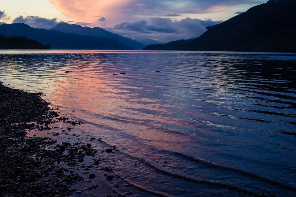 Sunset over Loch Lomond.