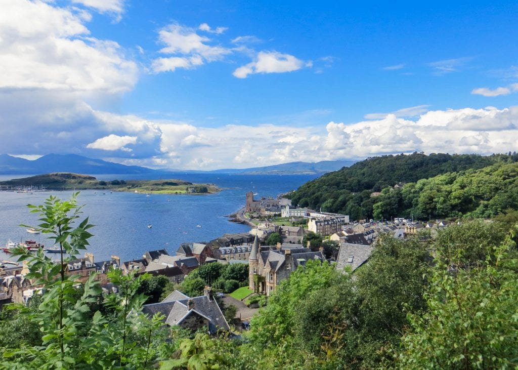 View of Oban from McCaig's Tower.