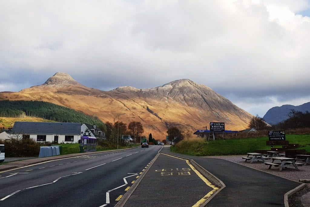 On the road through Glencoe