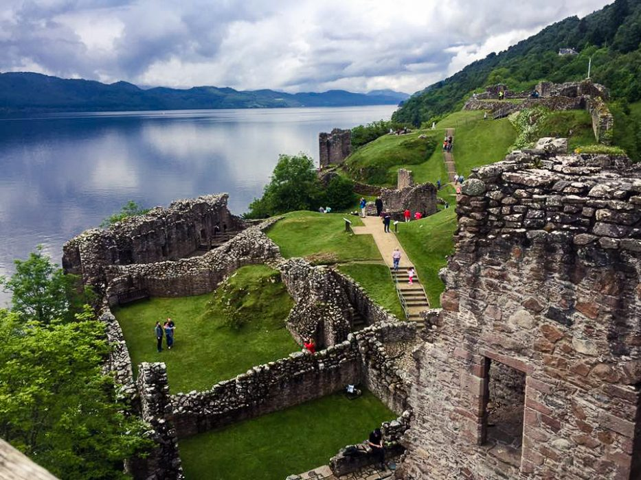 The ruins of Urquhart Castle in Scotland