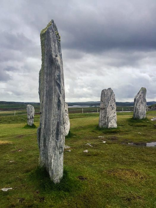 The Calanais Standing Stones on the Outer Hebrides in Scotland.