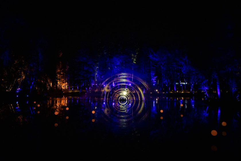 Light installation at the Enchanted Forest in Pitlochry