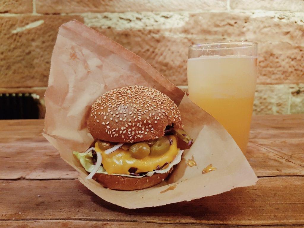 Freddy & Hicks Burger at Platform Street Food Market in Glasgow.