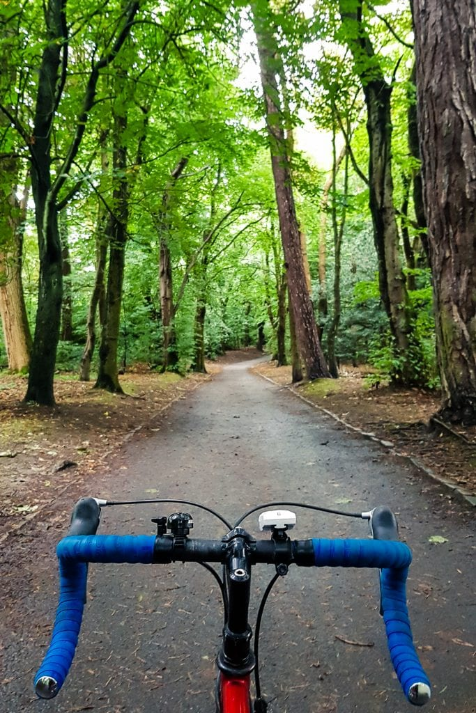 Cycling in Pollok Park