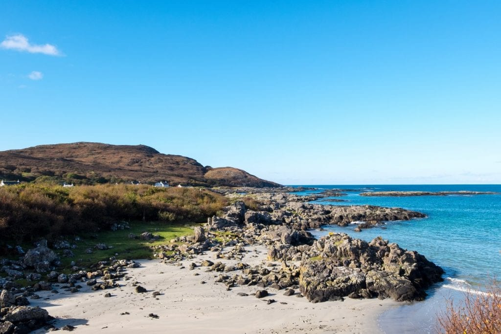 The view from Portunaik on the road between Arisaig and Ardnamurchan - this road along the West Coast is one of the most scenic drives in Scotland!