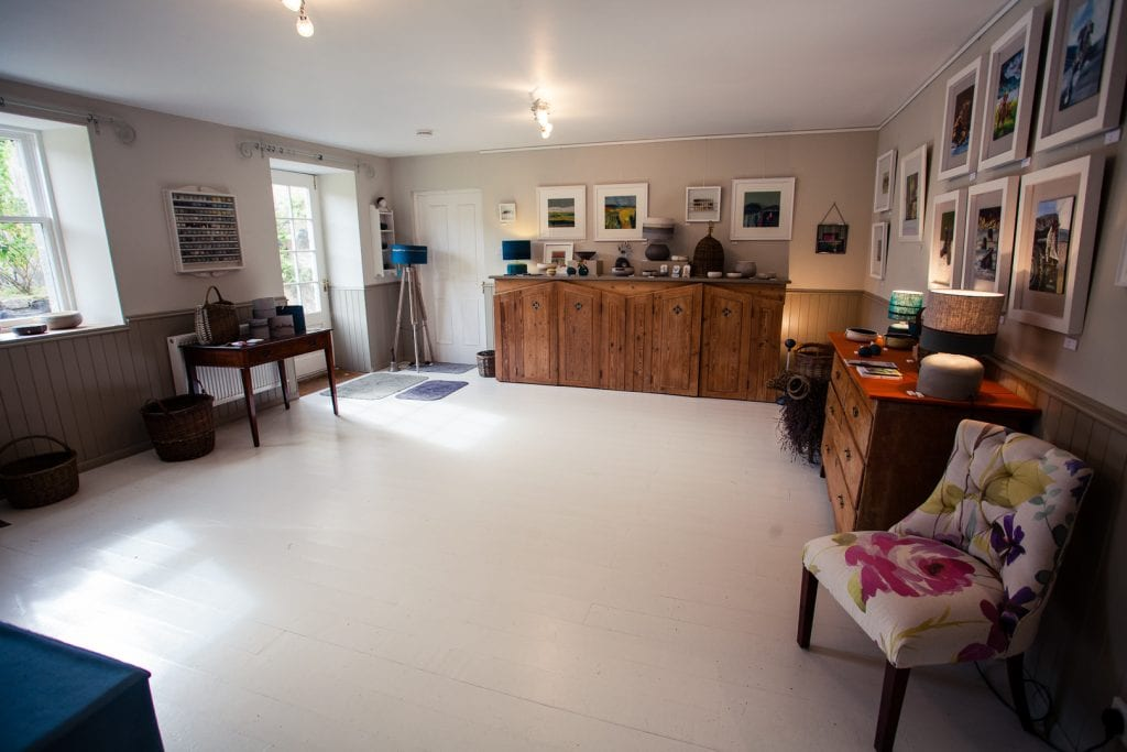 The gallery at Heckleburn Quines artist collective in Banchory.