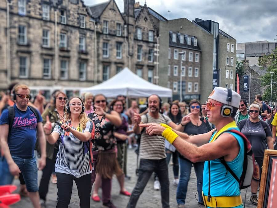 Silent Disco Walking Tour in Edinburgh