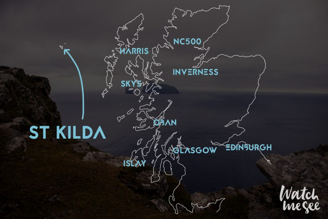 St Kilda on the map Scotland
