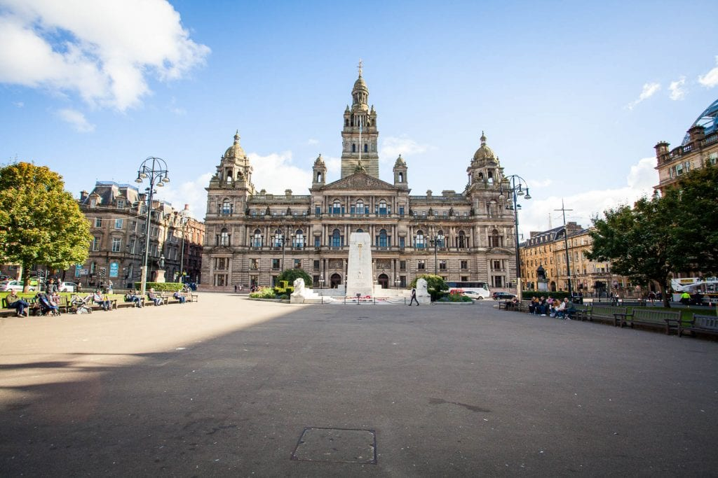The City Chambers on George Square in Glasgow.