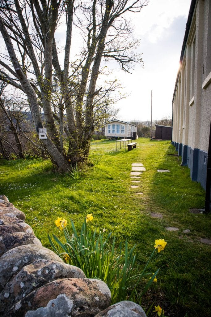 The garden of Helmsdale Youth Hostel
