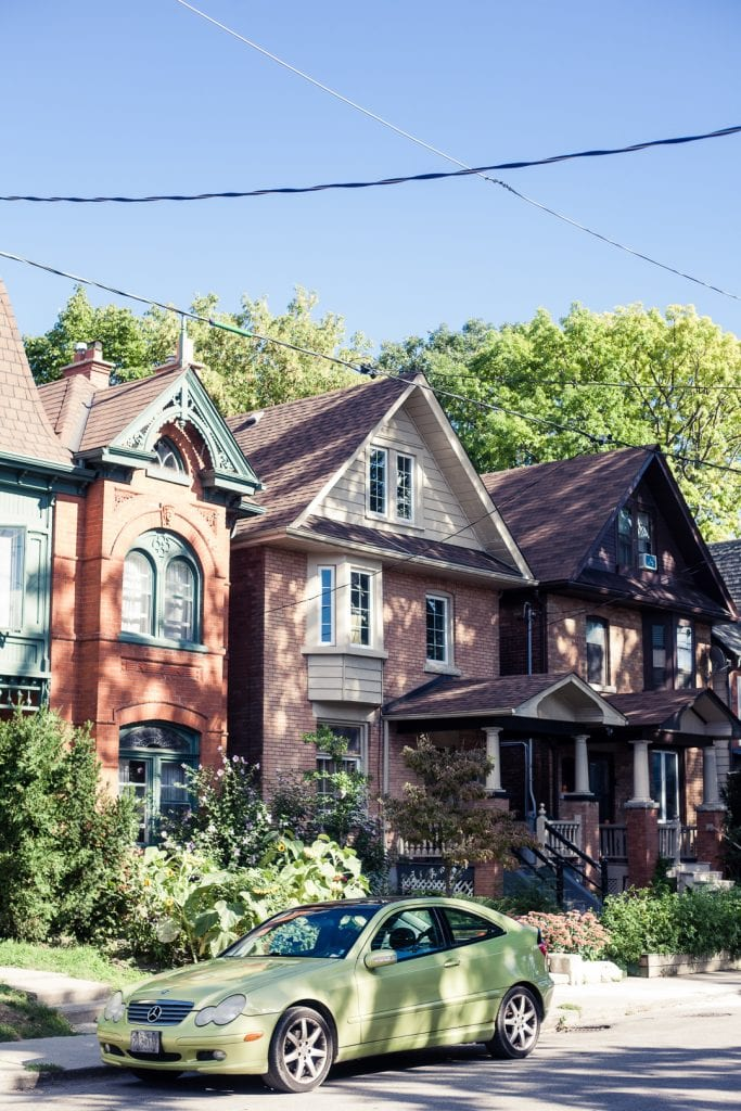 Traditional houses in Toronto