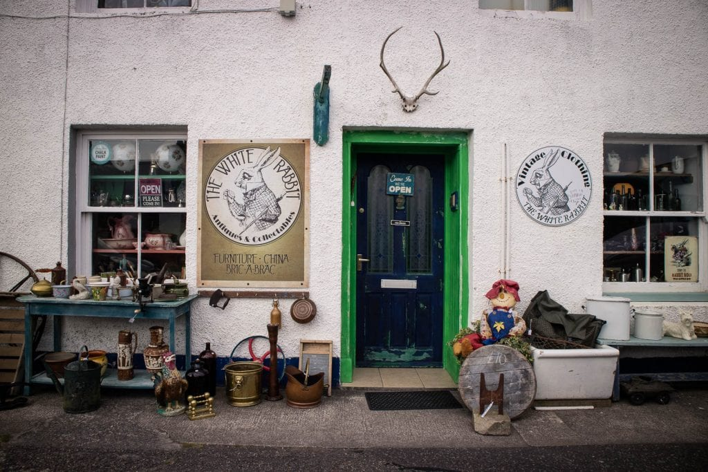 The White Rabbit antique store in Ullapool